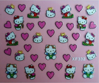 Hello kitty nail sticker- free shipping /wholesale 24 designs, 100 pcs per lot