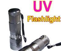 New 12 LED UV Ultra Violet Aluminum Alloy Flashlight  20pcs Freeshipping!  Blacklight Torch anti-counterfeiting Money Detector