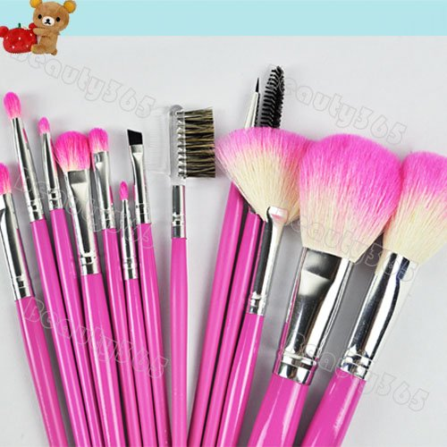 New Pink 13 Pcs Professional Makeup Brush Set Cosmetic Make up Brushes Tool Kit 5832(China (Mainland))