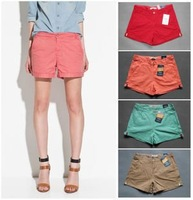 2012 hot sale 100% cotton candy colored women shorts  women hot shorts