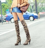 Free shipping ! Retail suede over-the-knee ladies boots, high-heeled fashion women's boots, ladies shoes