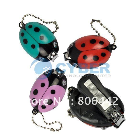 New Fashion Lovely Beatle Animal Nail Clippers With Keychain/ Nail Scissors Free Shipping(China (Mainland))