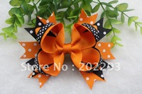 2013 Halloween boutique bows, sell hot, free shipping fee via DHL to your door!!!