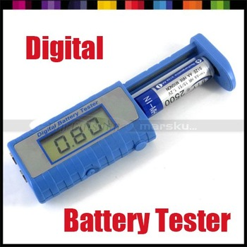 Universal Digital Battery Tester Checker Analyzer for 9V 1.5V and Button Cell AAA AA C D freeshipping dropshipping