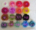 2013 top quality 4&quot; Ruffle Ranunculus flowers New design! fashion baby flower! mix colors 100pcs/lot