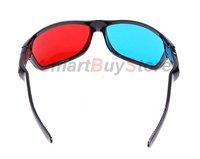 50pcs/lot,2012 NVDIA Plastic frame 3D glass Red blue /Black polish 3D glasses /NVDIA plastic 3D glasses,Free Shipping