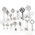 Hot Sale 42pcs/lot Antique Silver Plated Mixed Keys Shape Zinc Alloy Charms Pendants Fit Jewelry Necklace Findings DIY 142764