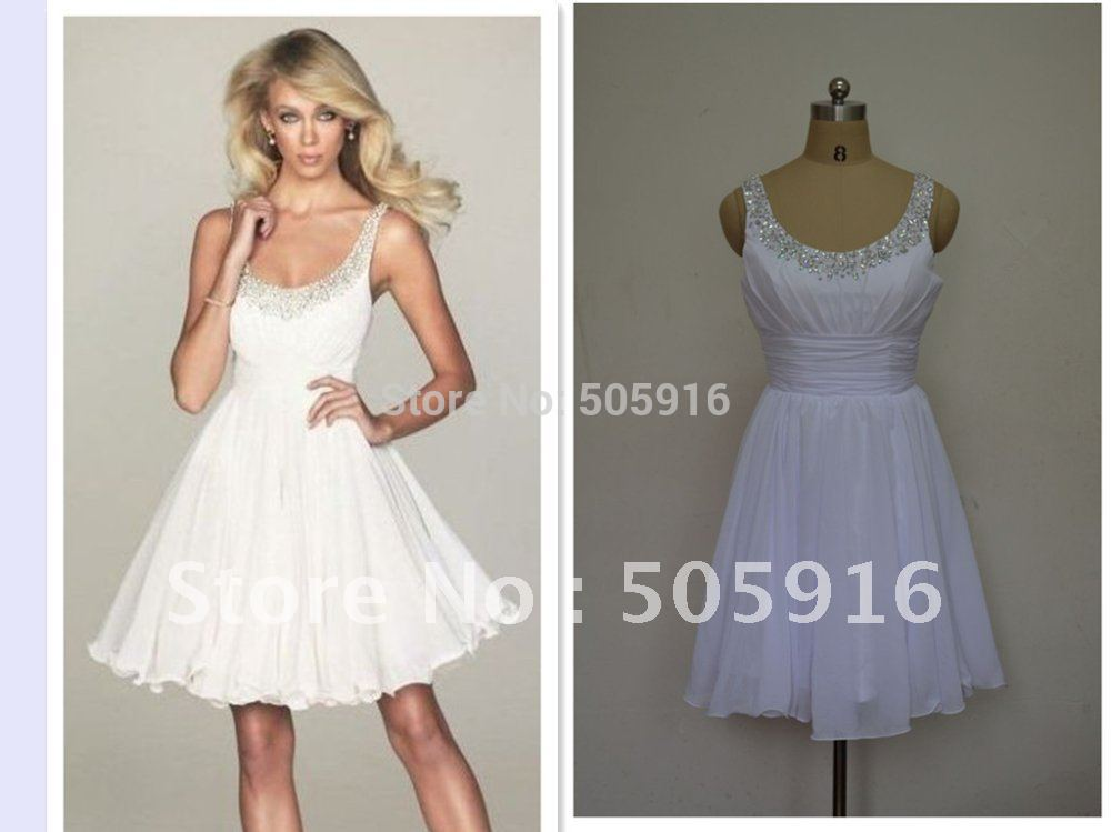 Free Shipping A-line Spaghetti Rhinestone Chiffon Cocktail Dresses L0099(China (Mainland))
