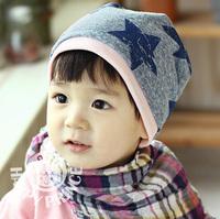 1 pcs Retail 2012 children's hat pentastar design and 100% cotton baby crochet hat, free shipping