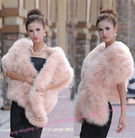 2012 New Women pink white blue grey white wine red FUZZY OSTRICH FEATHER CAPE VEST COAT M 4 6