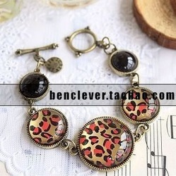 2647 sbb accessories female jewelry fashion vintage classic red leopard print quality bracelet 30g(China (Mainland))