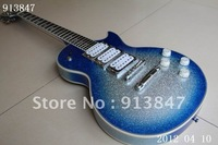 Free Hardcase  New Arrival Ace Frehley Signature guitar silver/blue