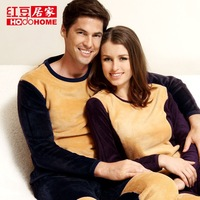 globalsources at home golden flower thermal underwear thickening plus velvet autumn and winter male women's wool thermal