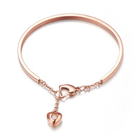 New Girls birthday gift 18k rose color gold hand ring lovers bracelet, free shipping FL02
