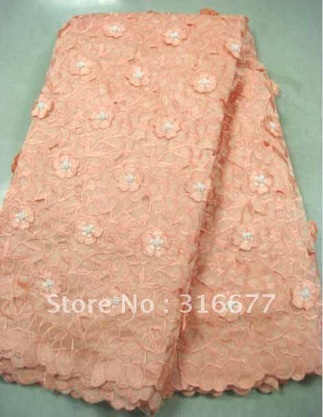 South Korea lace, Africa bud silk fabrics, 100% of the Swiss gauze, embroidery, wholesale and retail, free delivery(China (Mainland))
