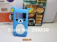 New Cartoon Rilakkuma Lazy Bear Soft Back Case for Nokia N8 N8-00, With Retail Package,1pcs min order