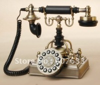 ship by China post  Worthy Of Collection Plated Bronze Royal Crown Telephone Antique Phone, retro phone Fixed telephone,