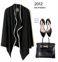 2012 Free shipping new arrival ladies loosen blouse ladies fashion long sleeve Cardigan coat