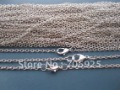 "Wholesale  70cm Plated Silver ""0"" shape Link chain 3mmx4mm necklace chain with lobster clasp 100pcs/lot"