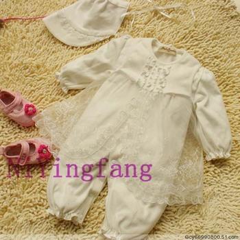 Newborn princess formal dress infant baby gift hundred sunshine spring and autumn