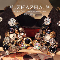 Vivi vintage military style button ornament false collar necklace Free Shipping gift  item