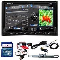 "Rear Camera GPS Navigation 3D PIP Map 7"" In Dash 2 Din Car DVD Player Bluetooth TV Radio Steering Wheel"