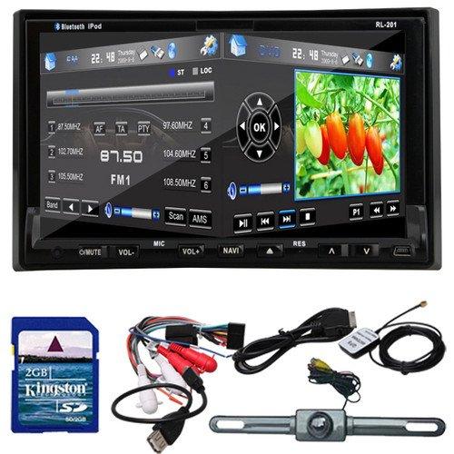 "Rear Camera GPS Navigation 3D PIP Map 7"" In Dash 2 Din Car DVD Player Bluetooth TV Radio Steering Wheel(China (Mainland))"