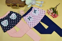 5pcs 2012 Girl&#39;s cute Render pants&amp;Tights baby Cotton black white striped trousers,skirts with leggings,Baby girl`s Render pant
