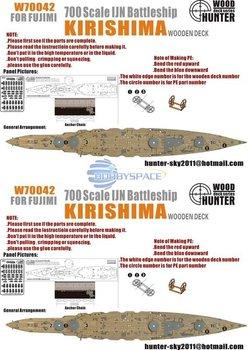 Hunter W70042 1/700 WWII IJN Kirishima Battleship for Fujimi   42021