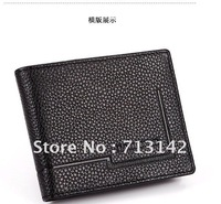 Men bag, High Quality, Genuine Leather Wallet for Men, 100% First Layer Cowhide Bag, Black, LAODIVISI 098