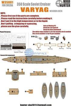 Hunter W35001 1/350 WWII Soviet Navy Varyag Battleship for Zvezda   9014