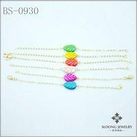 new design leaf shape bangles hand made bracelets  women's bracelets fashion jewelry 24pcs/lot -free shipping