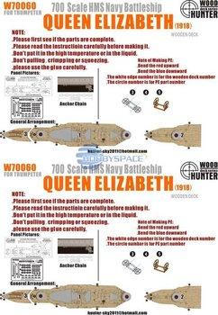 Hunter W70060 1/700 WWII HMS Navy Queen Elizabeth Battleship 1918 for Trumpeter  05797