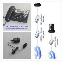 VOIP IP Phone Support SIP & IAX2  2 SIP Servers