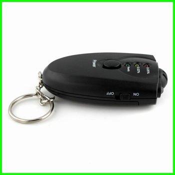 Fashion mini key ring Alcohol Breath Tester black digital Breathalyzer+ Flashlight LED indicator Epacket free