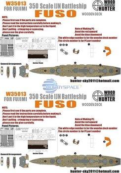 Hunter W35013 1/350 WWII IJN Fuso Battleship for Fujimi   60005