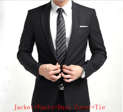 Freeshipping Wholesale Slim bridegroom Korean suits/men&#39;s business suits /black.gray.dark blue.dark gray .silver/S,M,L,XLXXLXXXL(China (Mainland))