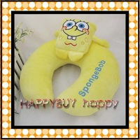 Free Shipping 20pcs Spongebob Plush U-shape Pillow Cushion Soft Plush Toy Hotsale Gift