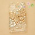 Bling Rhinestone Pearl Gold Butterfly Phone Case for Samsung Galaxy S2 T989 T-Mobile