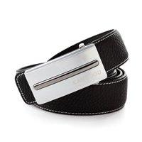 KANUOOU Brand New Style Genuine Leather Cow Skin Belt  Man Luxury Belts Silver Buckle Best Gift Present K8001