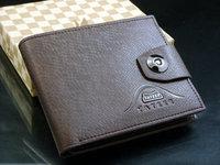 fashion card holder short design genuine leather men's wallet