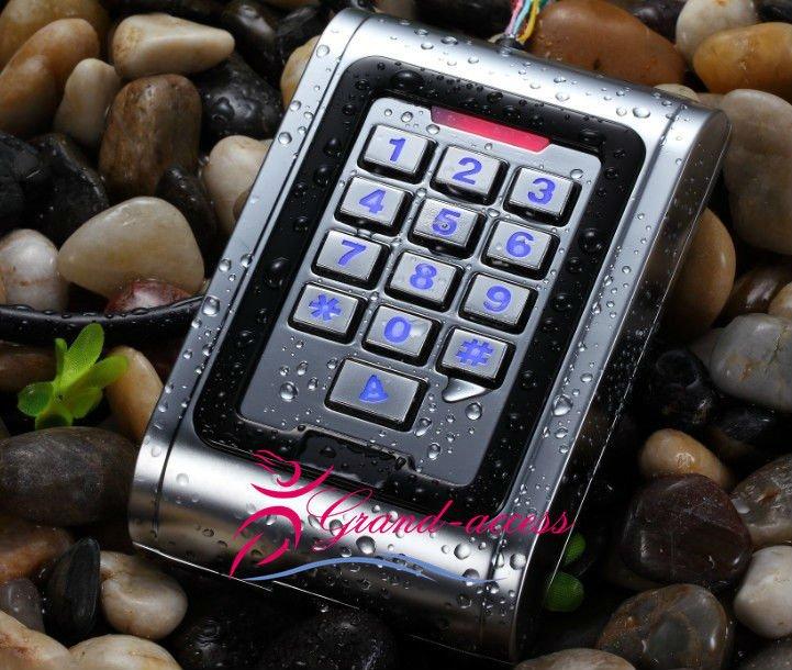 En acier inoxydable de contrôle d'accès clavier imperméable à l'eau, lecteur de carte rfid avec interface wiegane et confirmer ip85