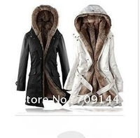 Free Shipping 2012 The Fifth Generation Upgrade Edition High Quality Faux Fur Lining Hoodies Ladies coat Winter Coat,Women Coat