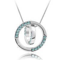 Free Shipping Min Order is $15 (mix order ) The Latest Hotsale Popular Crystal Circle Necklace
