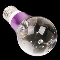 free shipping 4pcs/lot 3W Crystal LED Light Bulb RGB 16 Colors with Remote Control E27 screw base 100-240V AC RoHS CE
