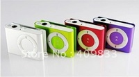 Free shipping metal mini clip mp3 player with 8GB microSD memory card