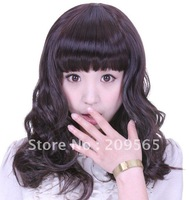 Free shipping 2012  Fashion Media  long curly wigs party wigs and cosplay wigs