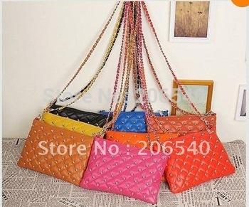 Sell one like this   Lady Womens Handbag Tote Bag Rivets chain Shoulder Bag Envelope Messenger