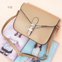 envelope candy color one shoulder cross-body vintage women's handbag
