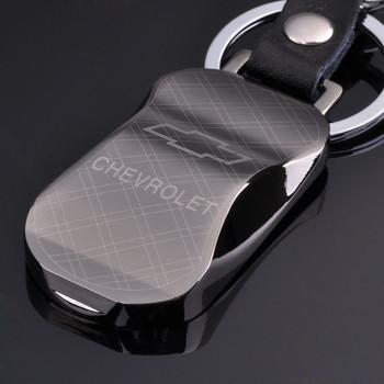 Car keychain auto supplies emblem key models of tungsten steel genuine leather